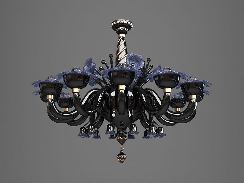 3d ornate chandelier black cgtrader ornate chandelier black 3d model max obj fbx mtl 4 aloadofball Choice Image