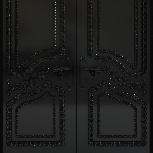 ... black carved door 2 3d model max fbx 7 ... & 3D model Black carved door 2 | CGTrader pezcame.com
