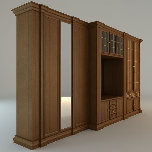 Wooden Wardrobe Cabinet Model