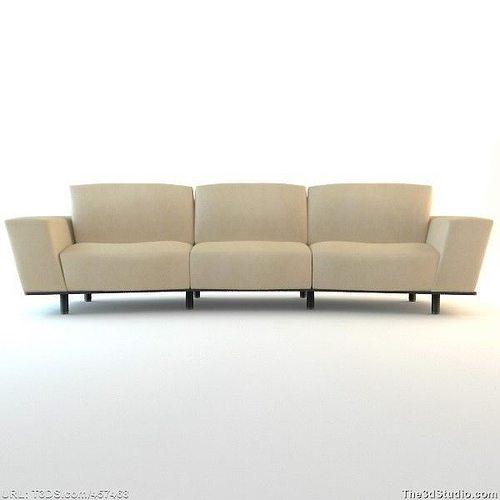 Curved Contemporary Sofa 3D Model