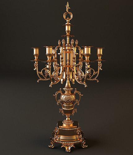 candlestick 2 3d model max obj mtl 3ds fbx 1
