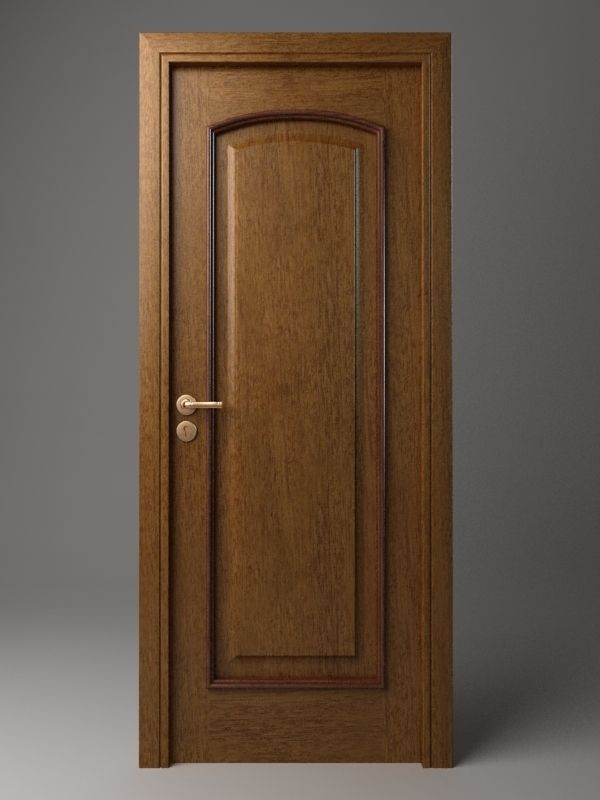 3d Wood Wooden Door Cgtrader