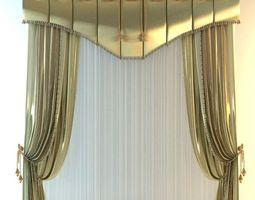 3D Elegant Tall Curtain