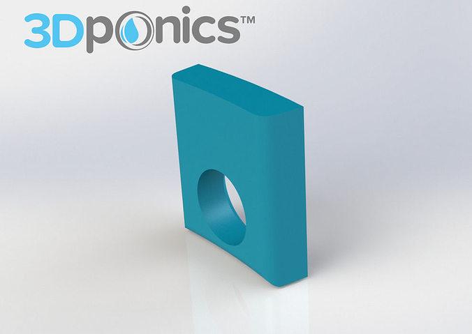 inner clip - 3dponics drip hydroponics 3d model obj mtl stl sldprt sldasm slddrw 1