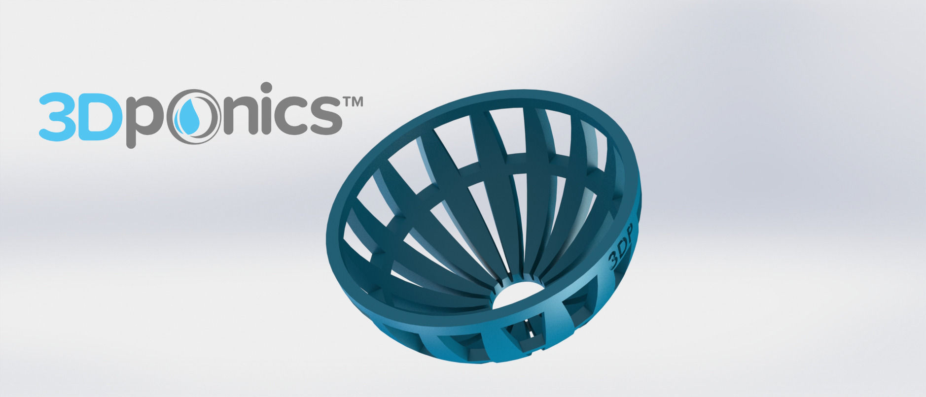 Grow Media Basket V2 - 3Dponics Drip Hydroponics