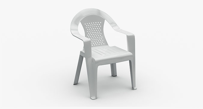 Plastic Stackable Chair Model Max Obj Mtl 1