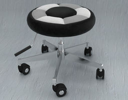 Office Foot Stool 3D model
