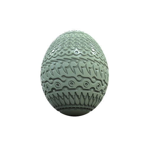 easter egg  3d model obj stl mtl 1