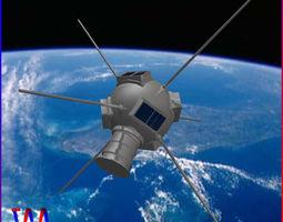 3d model vanguard i satellite
