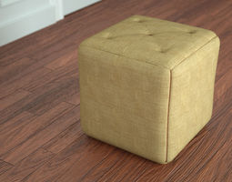 3D model Simple Pouf Ottoman