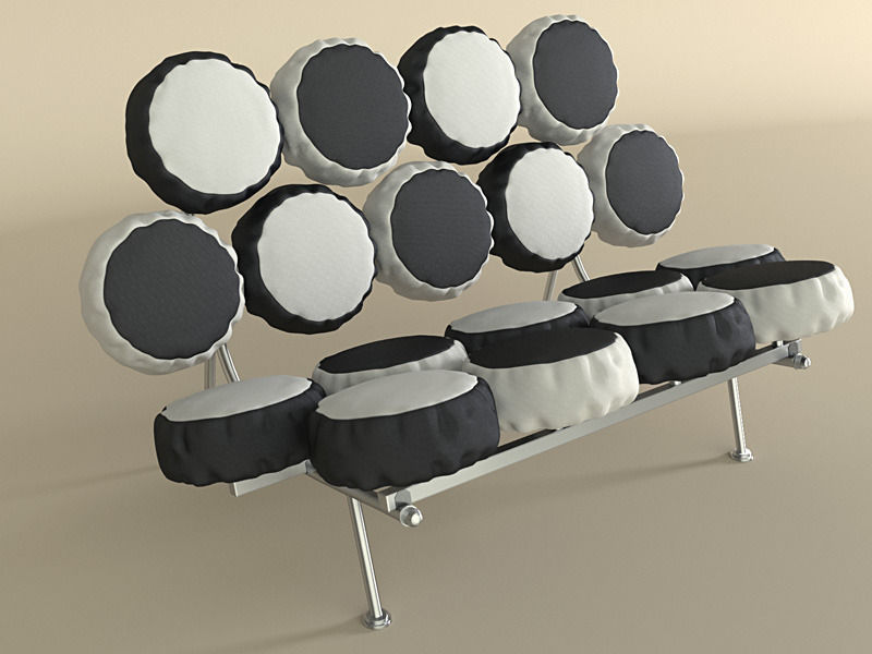 Nelson Marshmallow Sofa 3d Model Max Obj Mtl 1 ...