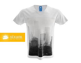 3D model Men V-Neck Shirt
