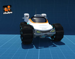game-ready 3d asset scifi buggy