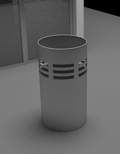 Office Trash Can Model Max 1