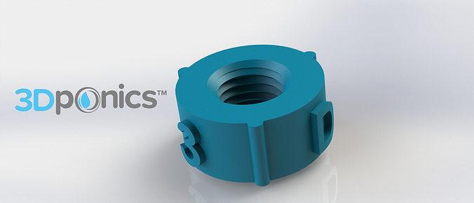 Nut  3Dponics NonCirculating Hydroponics Free 3D print model
