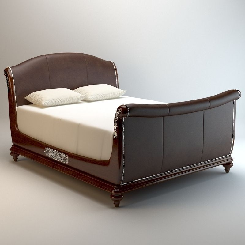 Sleigh Bed Detailed 2