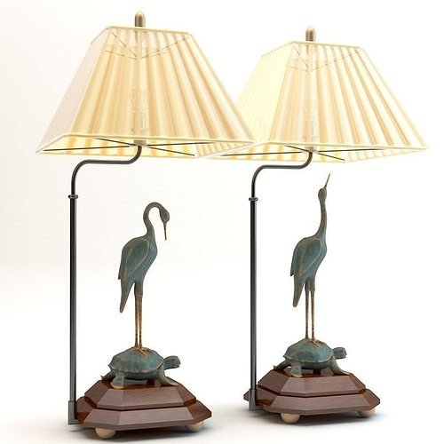 3d model chinese table lamps cgtrader chinese table lamps 3d model aloadofball Image collections