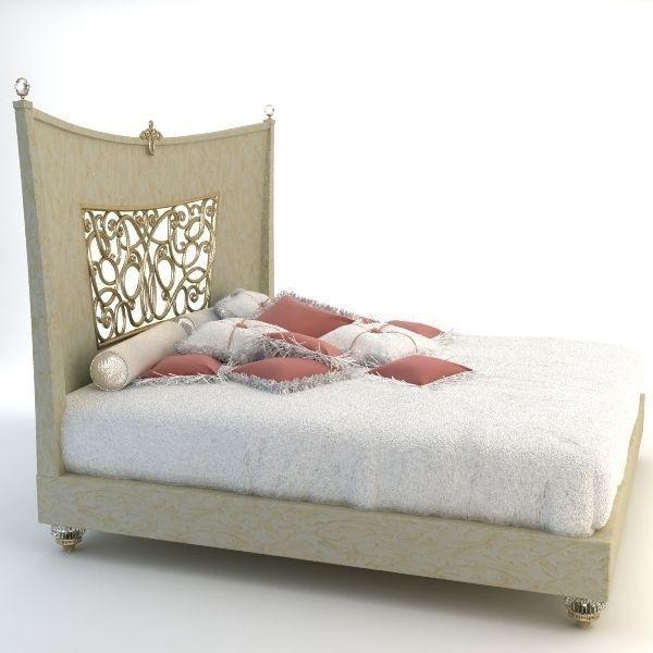 Bed alta moda 3d model max obj 3ds for 3ds max bed model