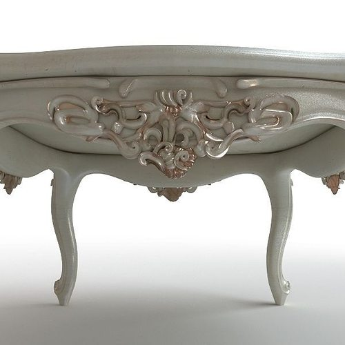 Baroque Coffee Table 3d Model Max Obj 3ds Fbx