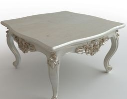 baroque coffee table 3d