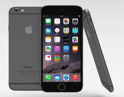 iPhone 6 Space Grey 3D Model