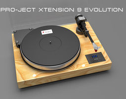 Pro-Ject Xtension 9 Evolution 3d model 3D Model