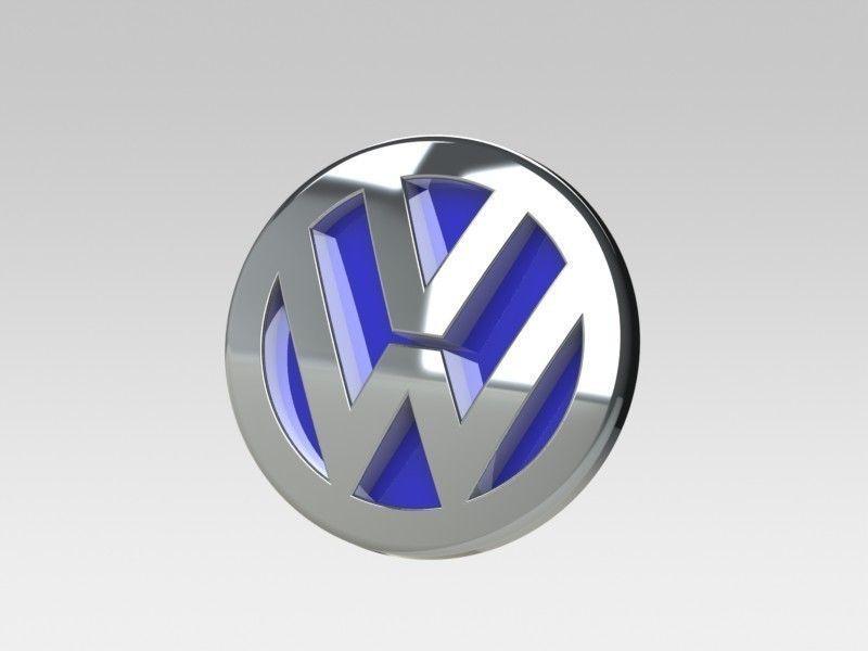 Volkswagen Logo 3d Model Max 3ds Stl Sldprt Sldasm Slddrw Ige Igs Iges 3
