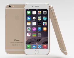 iphone 6 gold 3d model low-poly obj blend