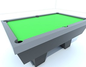Pool table 3D asset realtime