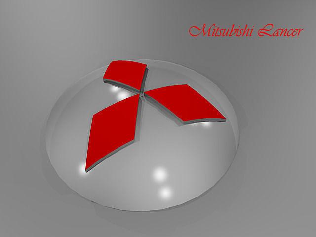 lancer cars logo 3d model dwg 1