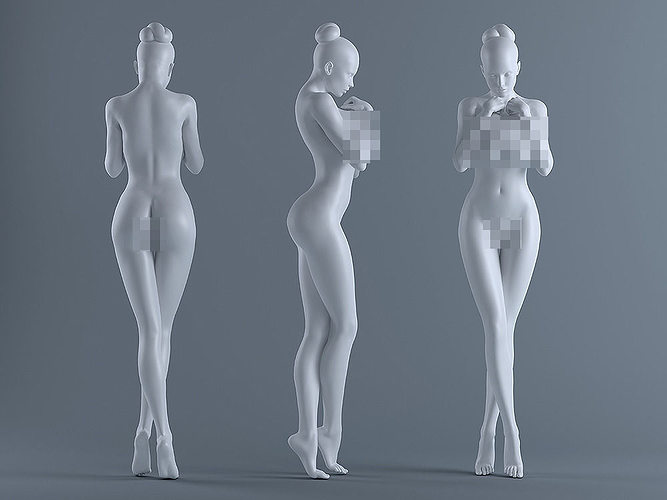 female body 3d model stl 1