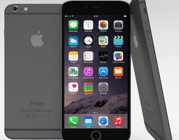 iPhone 6 Plus Space Grey 3D Model