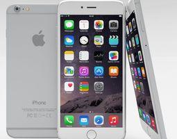 iphone 6 plus silver 3d model low-poly obj blend