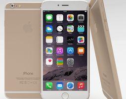 iPhone 6 Plus Gold 3D Model
