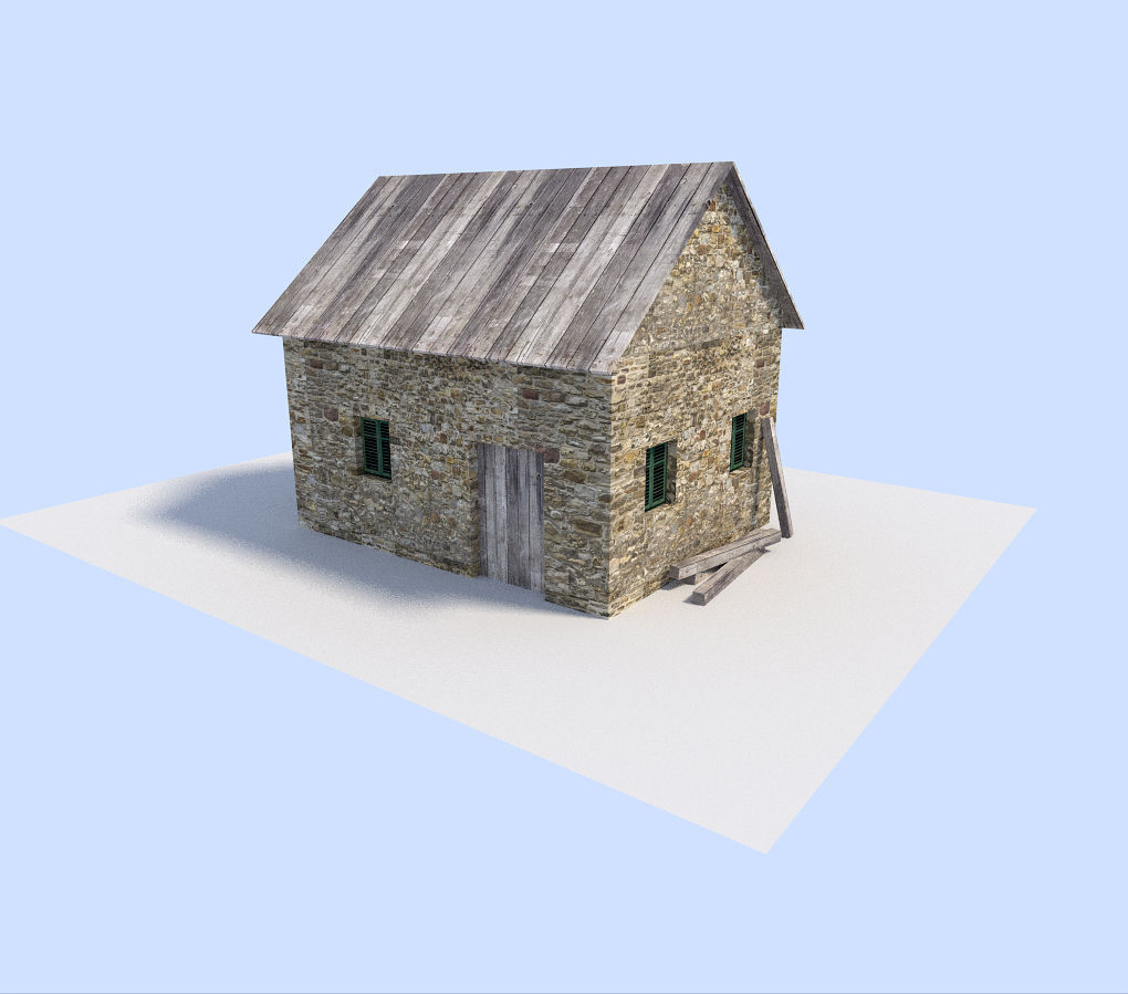 3d asset old house 2 cgtrader