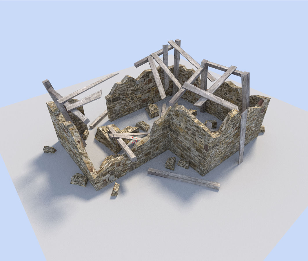 ruined house 3D asset | CGTrader
