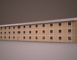3D model PREFABRICATED BUILDING 4