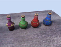 potions pack 3d asset game-ready