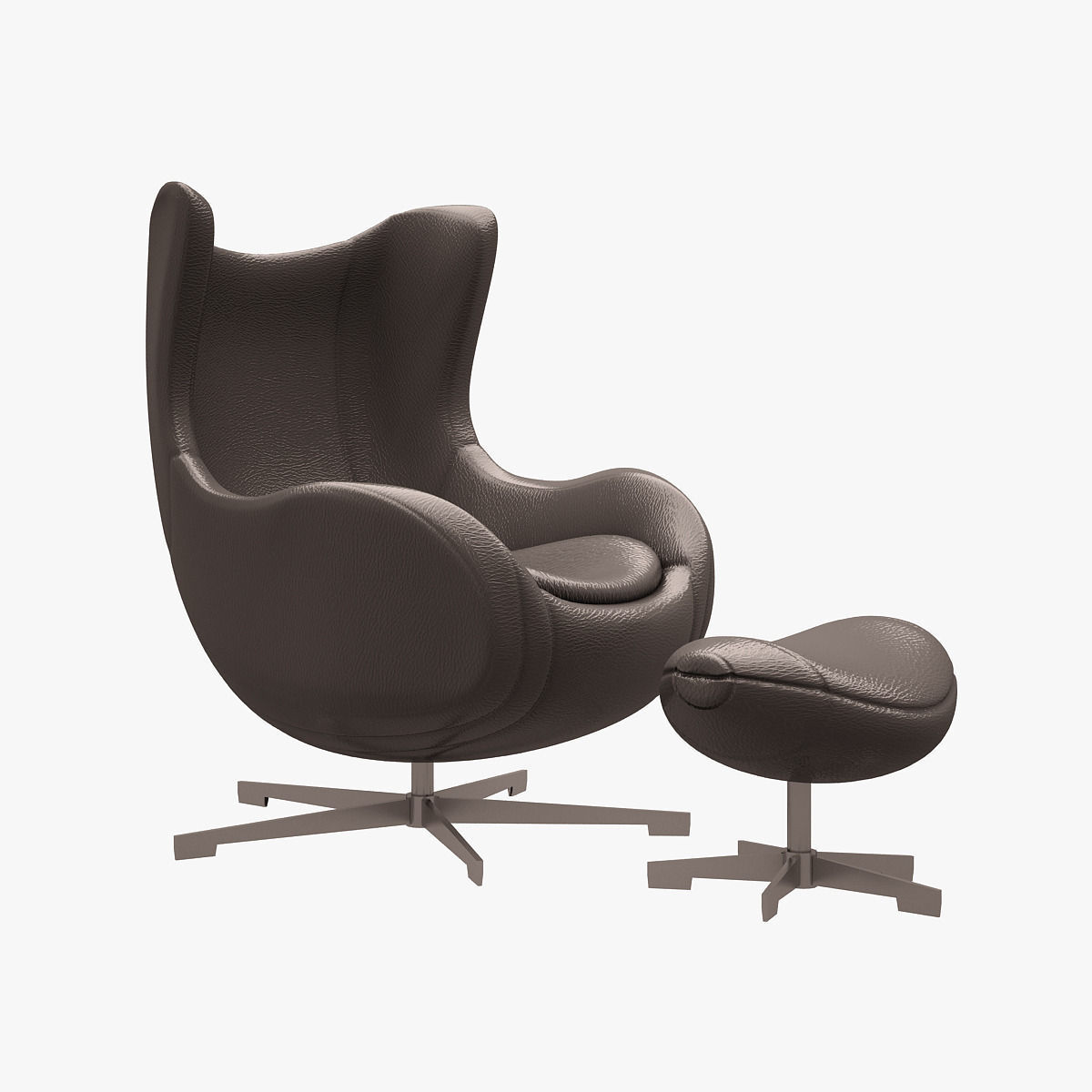 Arne Jacobsen Egg Chair.Egg Chair Arne Jacobsen 3d Model Low Poly Cgtrader