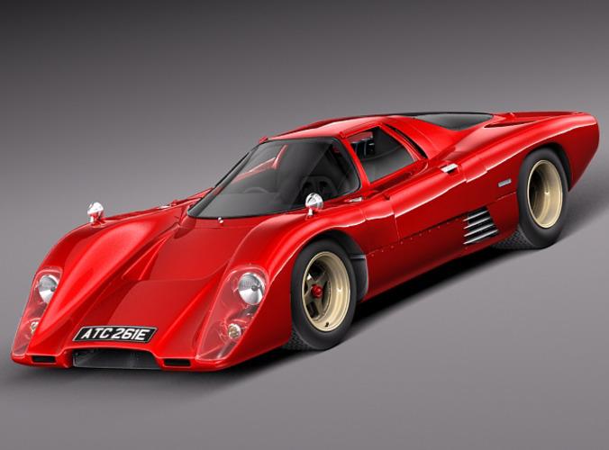 mclaren m6 gt grand prix race car 3d model max obj mtl 3ds fbx c4d lwo lw lws 1