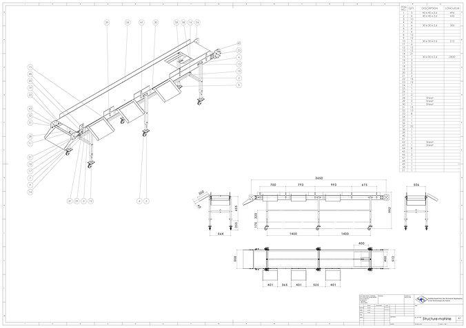 Transporteur bande free 3d model dwg sldprt sldasm slddrw for Porte 3d dwg