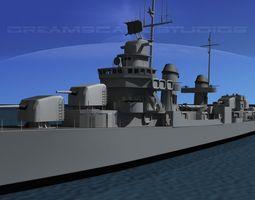 Destroyer DD-445 USS Fletcher 3D model