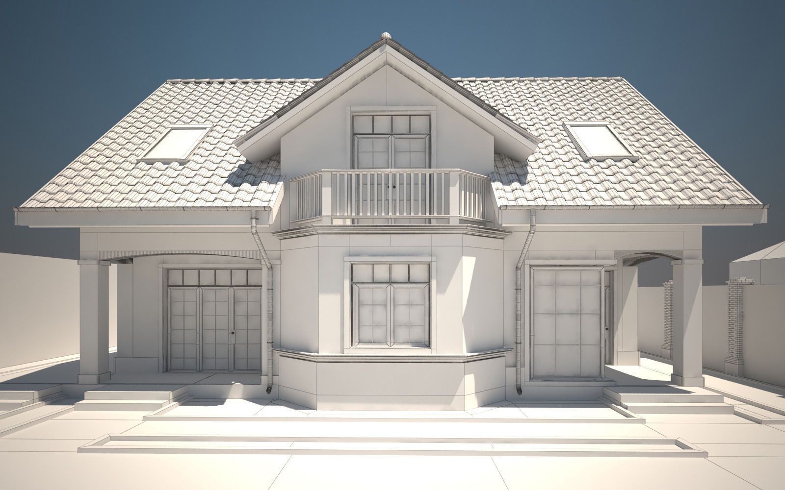 house exterior 3d model max obj 3ds dwg mtl tga