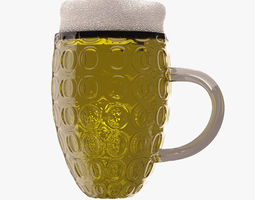 food Beer Glass 3D model