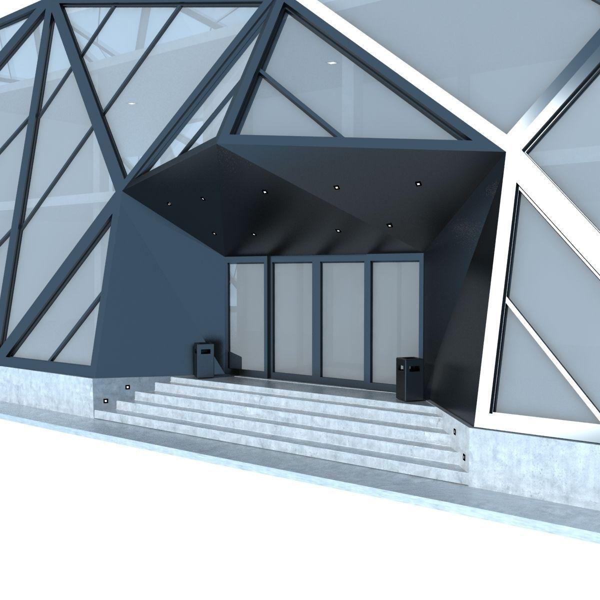 Modern futuristic building 3d model max obj 3ds fbx for 3d max building