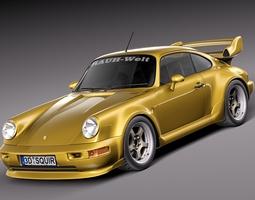 Porsche 911 964 turbo 1990 3D Model