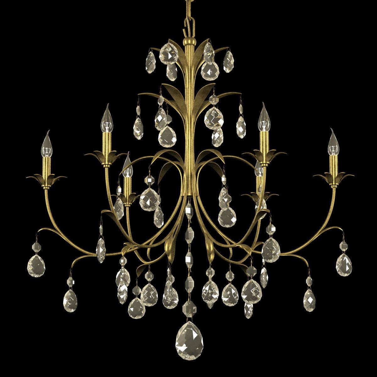 3d classic chandelier with metal leaves cgtrader classic chandelier with metal leaves 3d model max obj 3ds fbx mtl 3 arubaitofo Images
