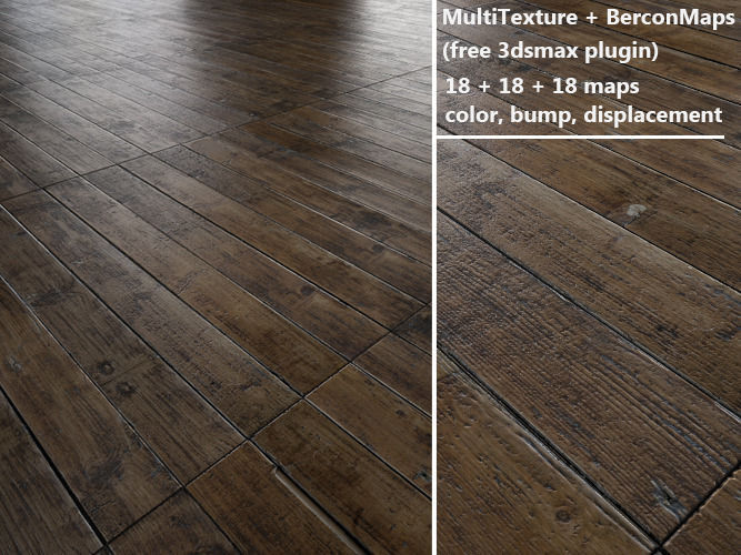 floorboards Parquet - Antique oak - MultiTexture | 3D model