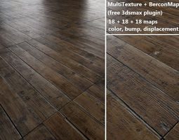 floorboards parquet - antique oak - multitexture 3d model