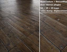 floorboards Parquet - Antique oak - MultiTexture 3D model